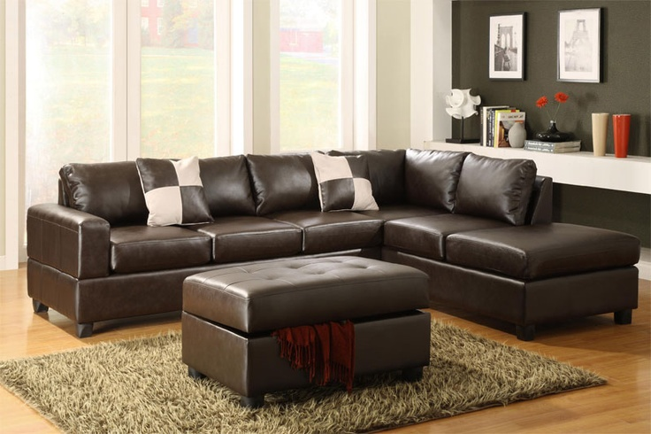 Leather living room set a storage ottoman sofa chaise
