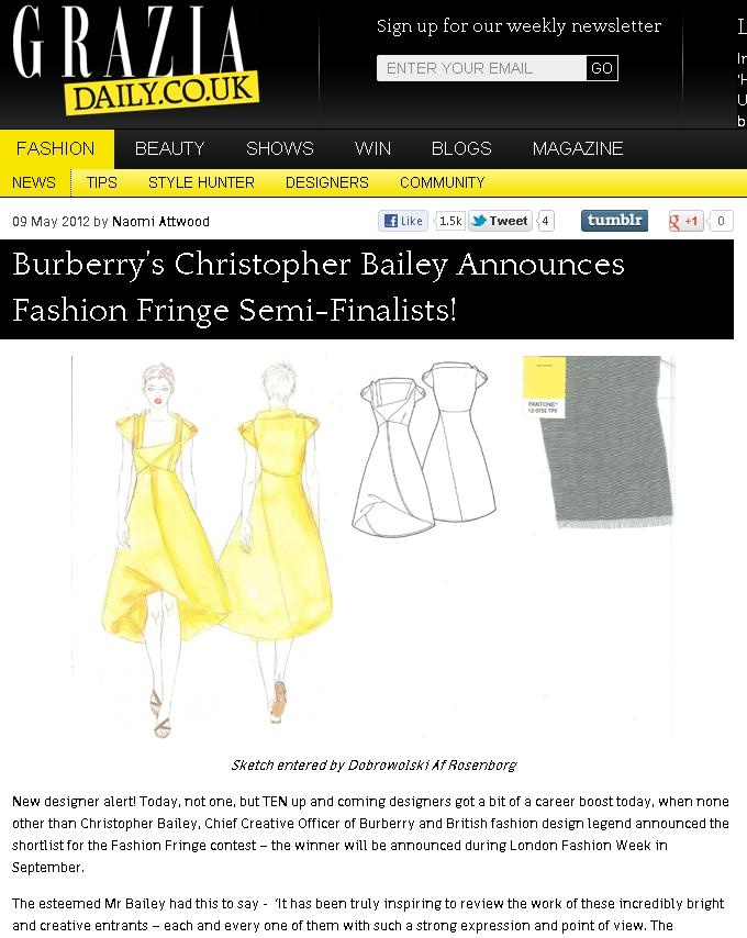 2012 Semi Finalist Announcement - Grazia