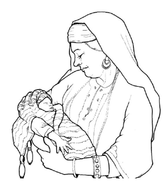 baby isaac bible coloring pages - photo#19