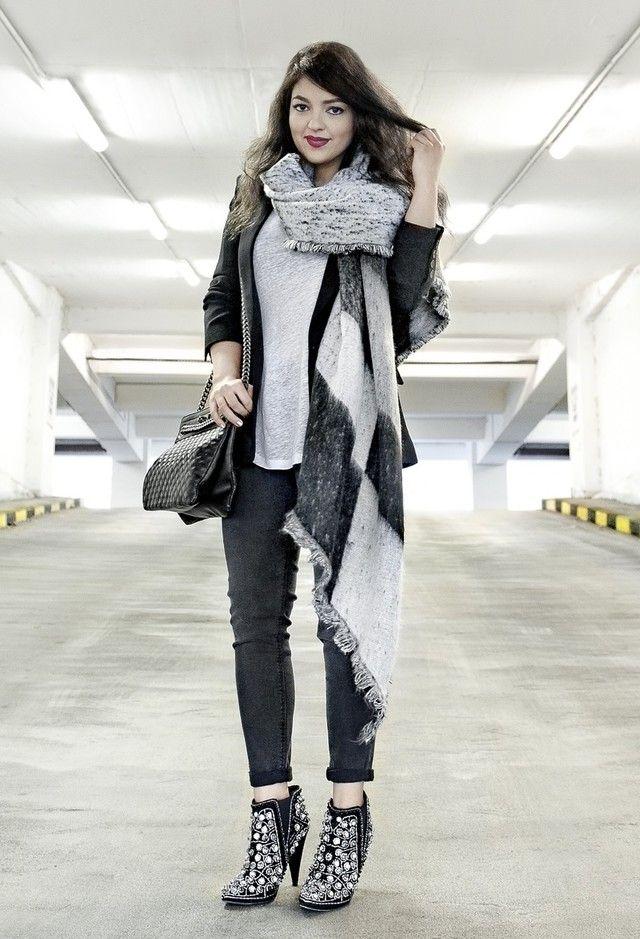 Zara  Scarves, Mango  Blazers and Mango  Bags