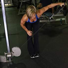 Bent over cable side lateral pull