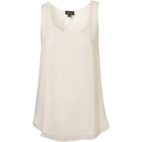 Shirts Bluzki Cream Shirt Vest Vest Top Sleeveless Vest And
