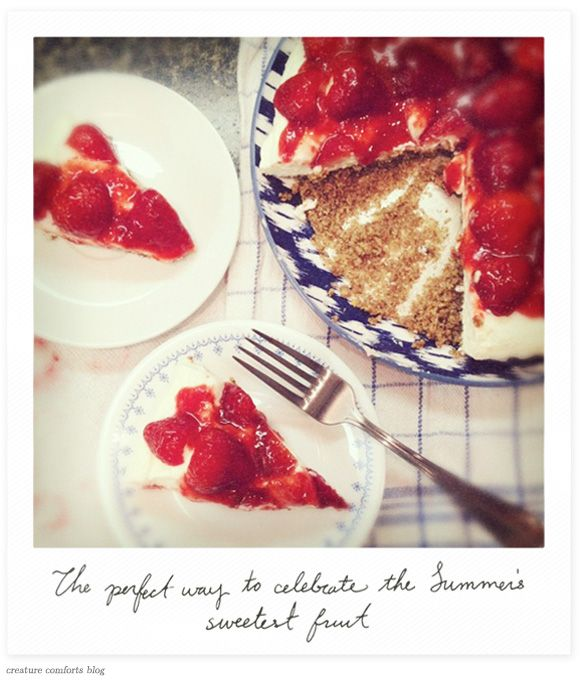 Strawberry Cheesecake Pie (Gluten-Free) pecan crust would be great for ...