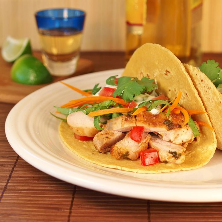 Meal: Tequila Lime Chicken Soft Tacos | Birthday FIESTA! | Pinterest