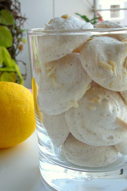Lemon-Almond Meringue Cookies | Cookies | Pinterest