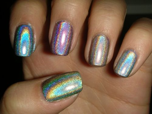 Inspiring picture color, glam, glitter, nails, polish. | nails ...