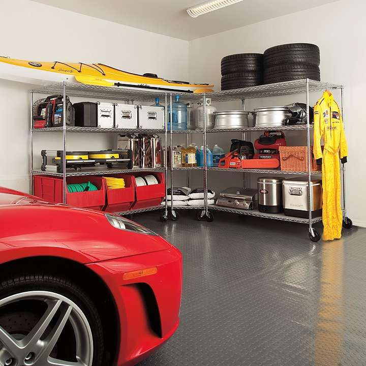 Oversized garage storage shelving garage pinterest for Large garages