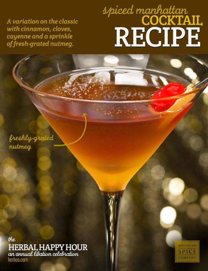 Recipe: Spiced Manhattan Cocktail ] ~ from Monterey Bay Spice Co
