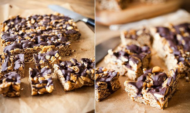 Good Morning Sunshine Bars with peanut butter, chocolate, and caramel ...