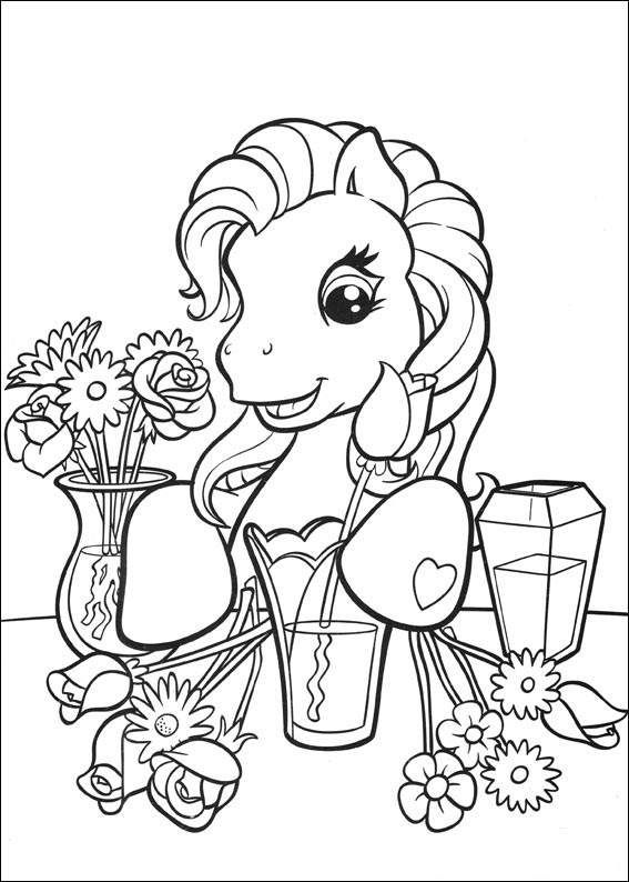 My Little Pony G3 Coloring Pages : Mon petit poney my little pony over the rainbow g in