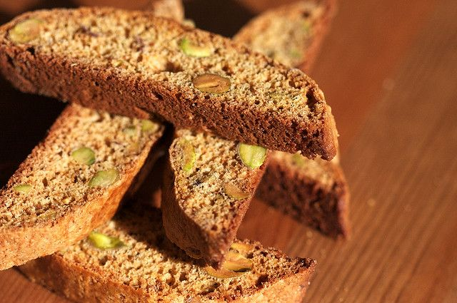 Cranberry) Honey Pistachio Biscotti by joy the baker, via Flickr