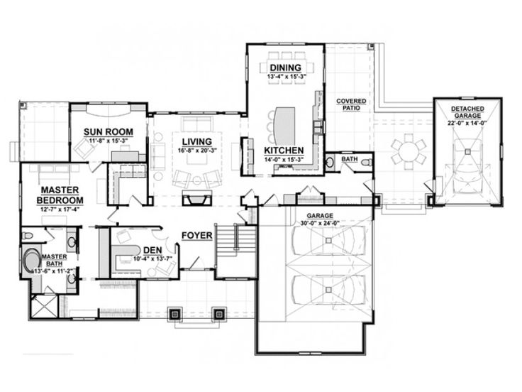 Modern Craftsman House Plans Pinterest