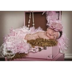 Baby Pink Vintage Lace Newborn Pettiskirt