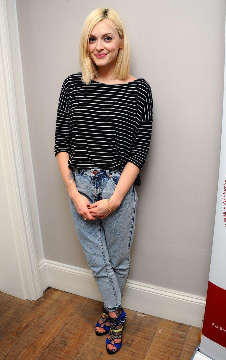 Fearne Cotton wears ASOS jeans; H&M top; Fearne Cotton for Very.co.uk Amelia Lace Up Cut Out Sandals. // #Denim #FearneCotton