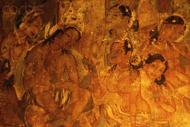 Pin by pedro rueda gargurevich on piedras pinterest for Ajanta mural painting