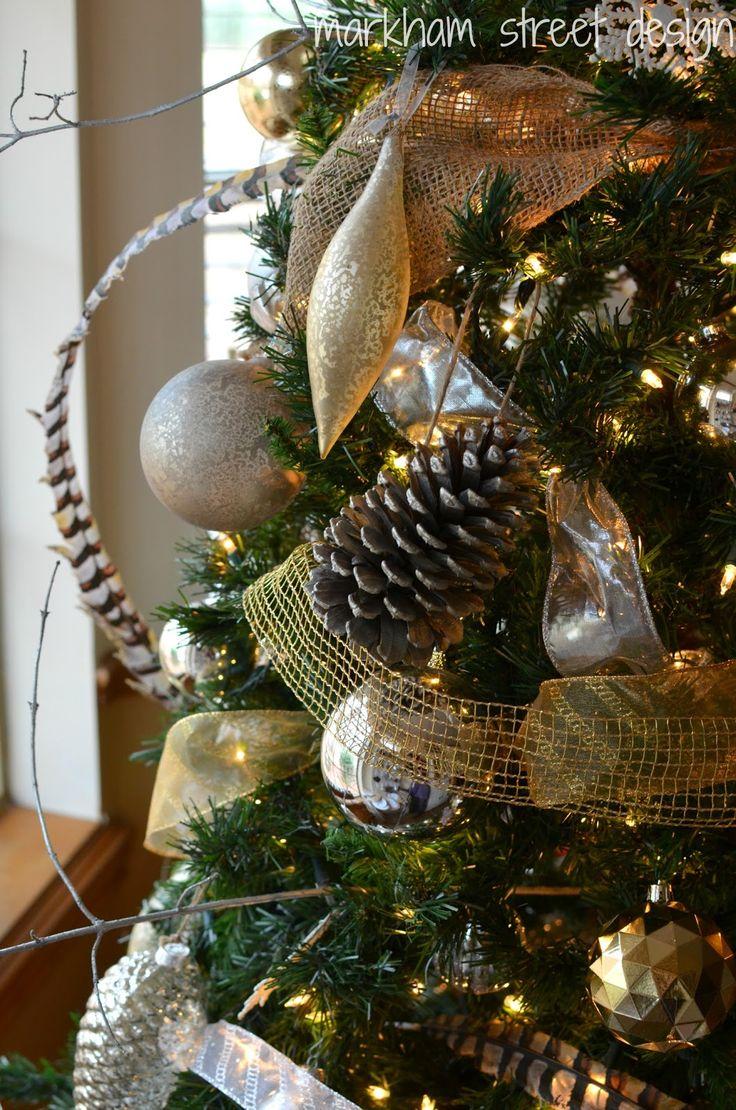 Rustic Glam Christmas Tree Christmas Pinterest