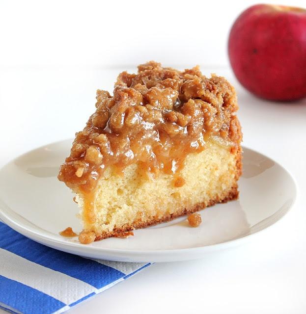Caramel Apple Coffee Cake. Warm gooey caramel, crisp cinnamon streusel ...