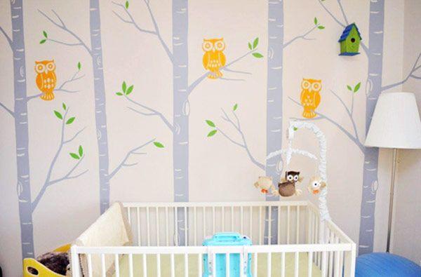 quarto de bebe verde e amarelo ~ Adesivo De Parede Para Quarto De Bebe Unissex