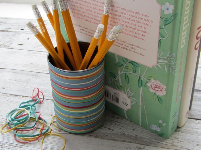 DIY Tutorial: Diy back to school / DIY Rubber Band Pencil Holder