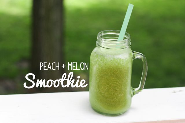 52 Weeks of Smoothies: Peach + Melon | Yumyums ~ the drinks | Pintere ...