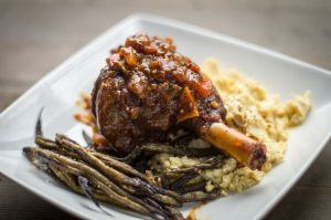 Braised Goat Shanks Recipe {tomato, carrot and wine based sauce ...