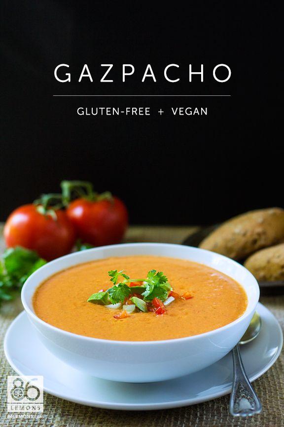 Creamy Gazpacho Recipe 2½ cups tomato juice, divided 2 Tbsp cider ...