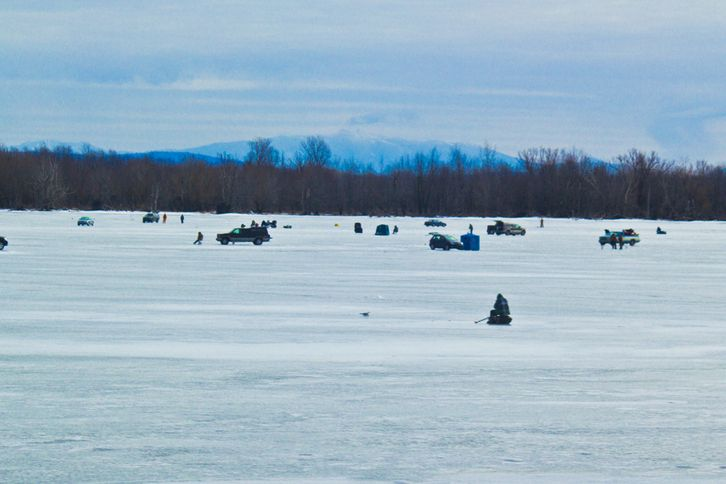 ice fishing on lake champlain lake champlain pinterest