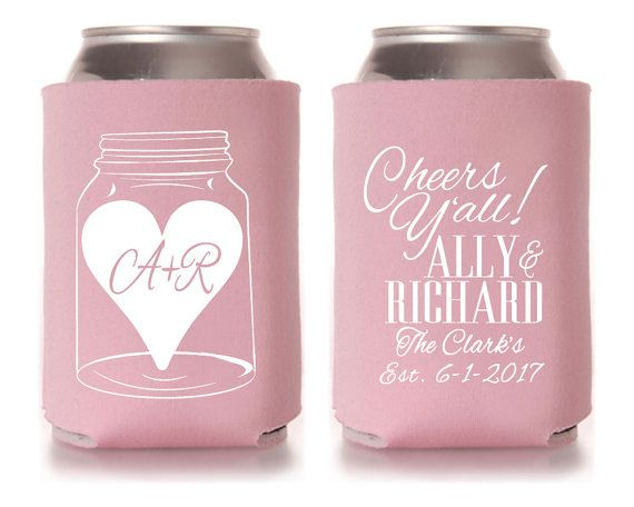 Tags Wedding Koozies Etsy Personalized 35 Gift Ideas The Knot Your Personal Monogrammed Gifts And Preppy