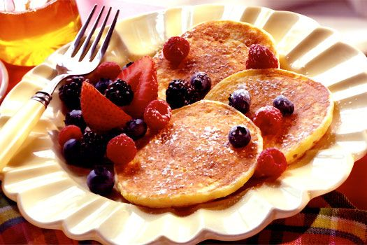 Orange Ricotta Pancakes - so good!!!!!
