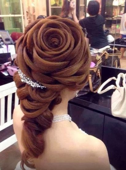 Rose Wedding Hair Design