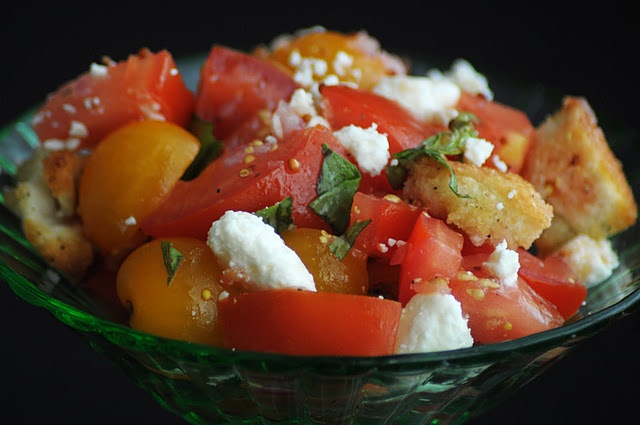 tomato basil salad with feta cheese | Salads | Pinterest