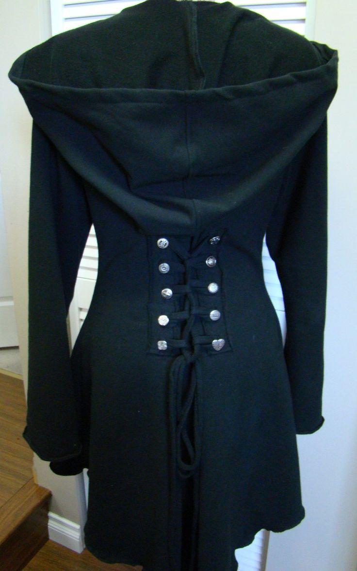 ... corset laced festival hoodie Fairy pixie steampunk cloak jacket hoody