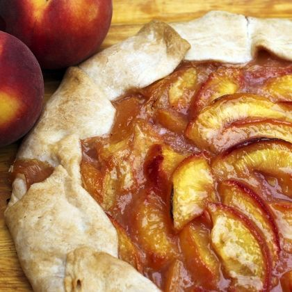 Peach Crostata- If only we still had the two peach trees...Oh well ...