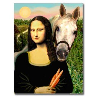 Mona Lisa & horse | Being Silly: Mona Lisa | Pinterest