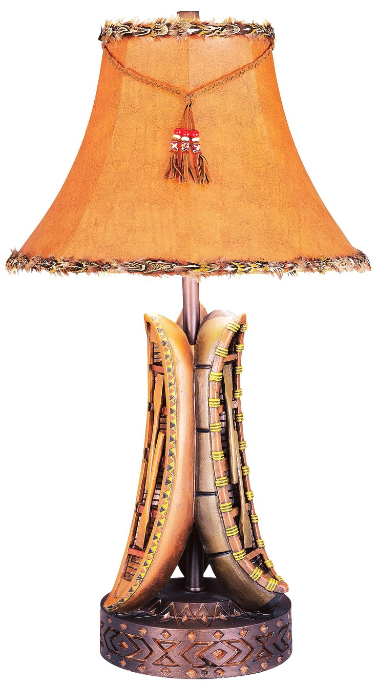 Woods old river canoe table lamp cabin decorating ideas p