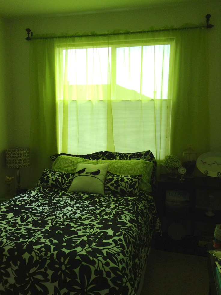 Green black and white bedroom bedroom pinterest Green and black bedroom