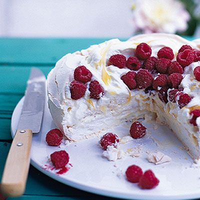 Raspberry and Lemon Curd Pavlova | Recipe