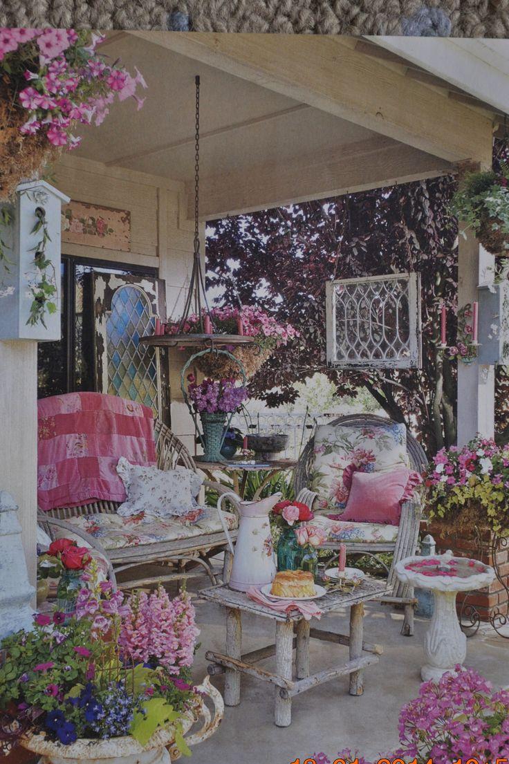 shabby chic garden porch outdoors pinterest. Black Bedroom Furniture Sets. Home Design Ideas
