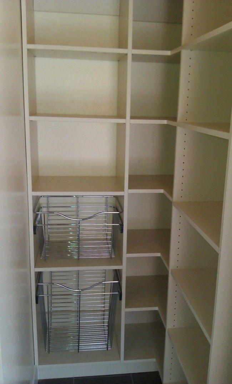 Walk in pantry design kitchen remodeling pinterest for Walk in pantry design