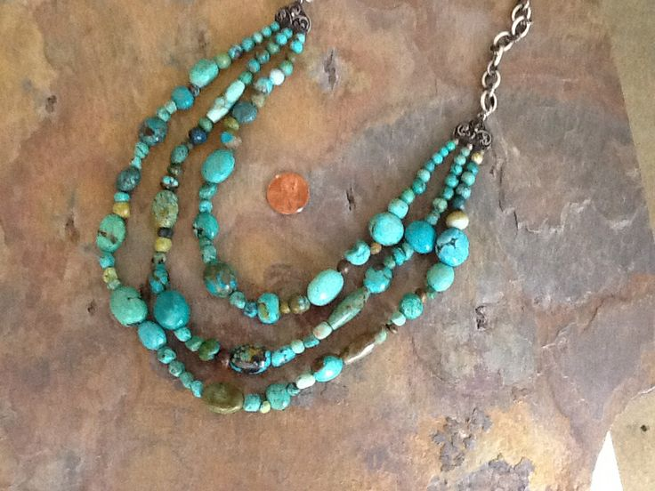 three strand turquoise necklace jewelry ideas