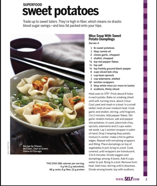 Miso soup with sweet potato dumplings | Food and Recipes | Pinterest