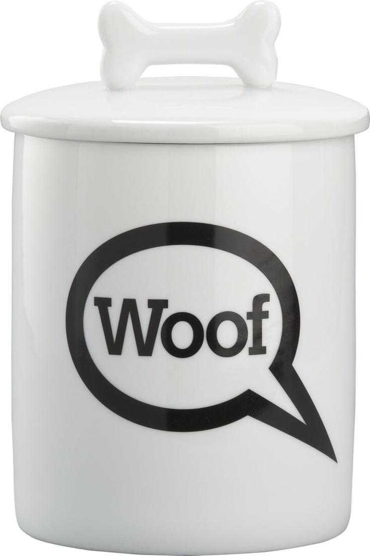 """Woof"" Treat Jar in Pet Accessories 
