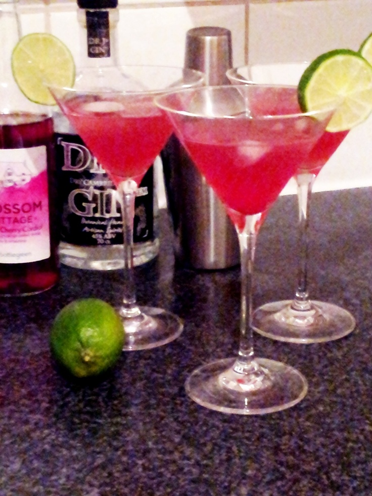 Sour cherry gin slings Ingredients: (makes 2) 3 shots gin 1 shot ...