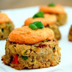 ... with Roasted Red Pepper Cashew Cream Sauce. Nutrient-rich and delish