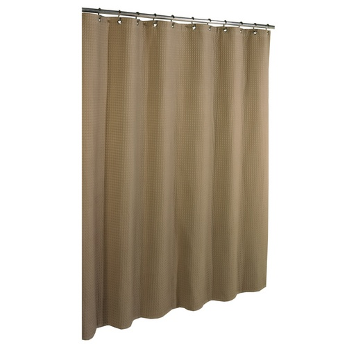 Cotton Solid Shower Curtain