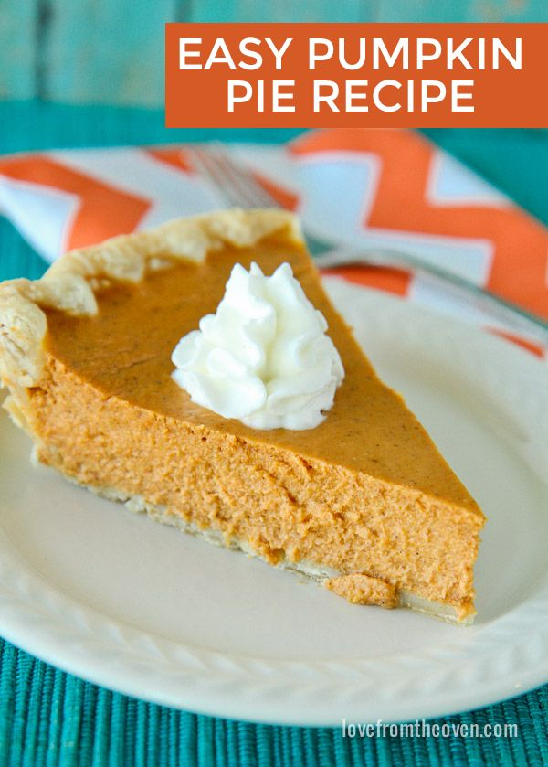 Need an easy pumpkin pie recipe that you can depend on? This has been my go to recipe for years! Perfect for fall, Halloween and Thanksgiving. We LOVE this pie!