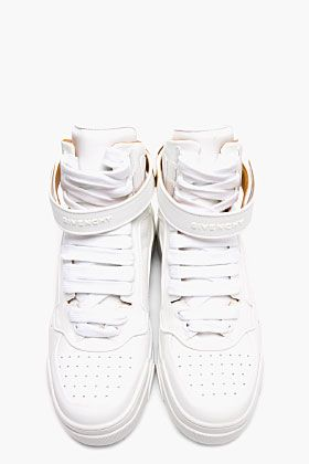 Givenchy white leather gold plated sneakers