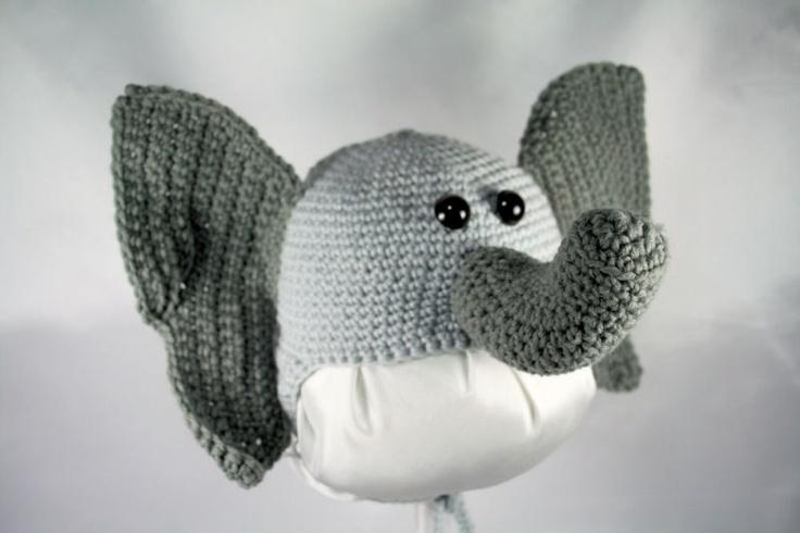 Crochet Amigurumi Elephant Ears : Elephant Ear Flap Hat Crochet Pattern Crochet Pinterest