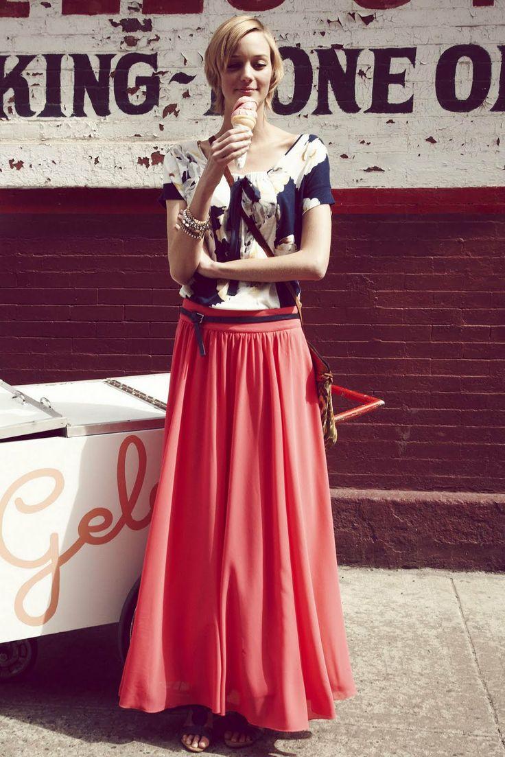 silk chiffon maxi skirt pattern sewing