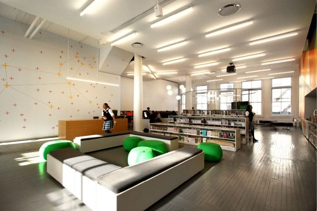 Pin by warrlib on young adult teen areas in libraries for Young interior designers nyc